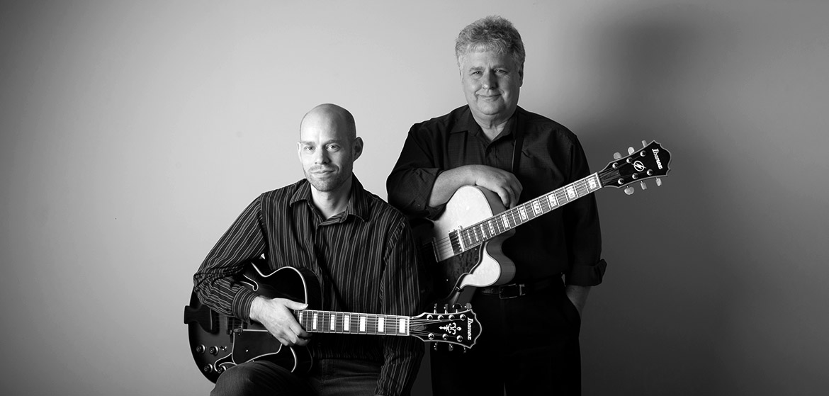 Myles English and Lloyd English Jazz Guitar Players Victoria BC Canada